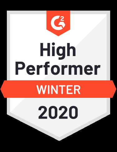 G2 Crowd Award - High Performer Winter 2020