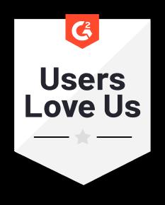 G2 Crowd Award - Users love us